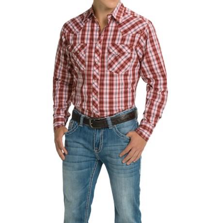 Wrangler Fashion Plaid Shirt - Snap Front, Long Sleeve (For Men)