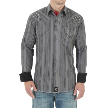 Wrangler Rock 47 Shirt - Snap Front, Long Sleeve (For Men)