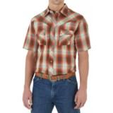 Wrangler Western Jean Shirt - Snap Front, Short Sleeve (For Men)