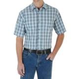 Wrangler Rugged Wear Plaid Shirt - Wrinkle-Resistant Cotton, Short Sleeve (For Men)