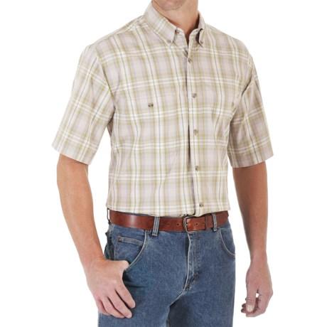 Wrangler Rugged Wear Wrinkle-Resistant Plaid Shirt - Button Down, Short Sleeve (For Men)
