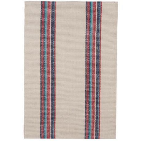 Caravan Striped Cotton Dhurrie Kitchen Rug - 2x3'