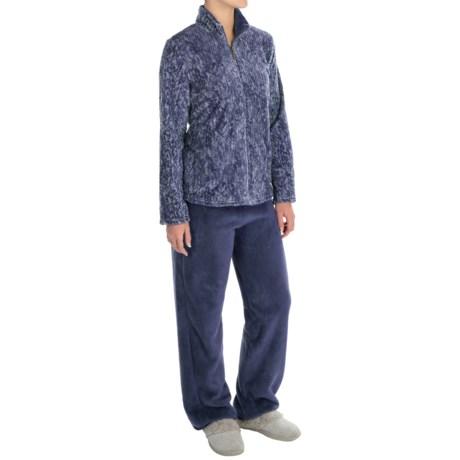 Stan Herman Plush Loungewear Set (For Women)