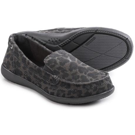 Crocs Walu Leopard-Print Shoes - Slip-Ons (For Women)