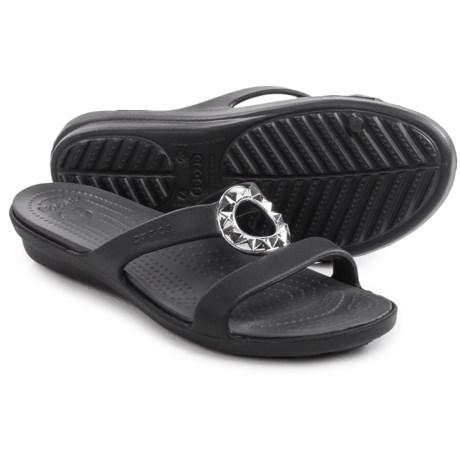 Crocs Sanrah Studded-Circle Sandals (For Women)
