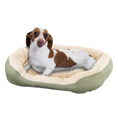 Sleep Zone Oval Step-In Pet Bed - 21x17""