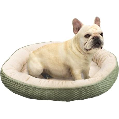 "Sleep Zone Checkerboard Napper Pet Bed - 20x20"""