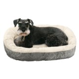 """Sleep Zone Quilted Oval Cuddler Dog Bed - 26x22"""""""