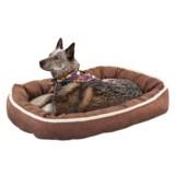 "Sleep Zone Faux-Shearling Oval Cuddler Dog Bed - 31x24"""