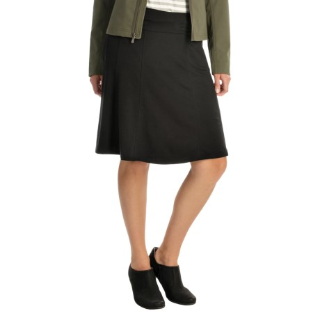 Gored A-Line Rayon Skirt (For Women)