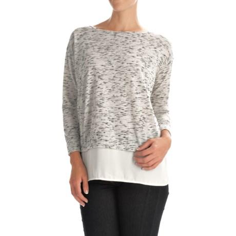 Layered Look Shirt - Long Sleeve (For Women)