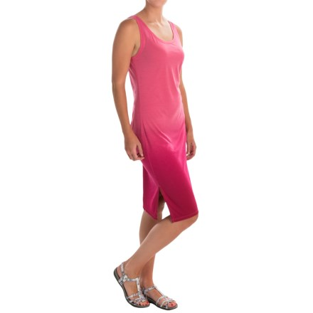 Icebreaker Tech Lite Tank Dress Dusk - UPF 20+, Merino Wool, Sleeveless (For Women) in Shocking/Raspberry - Closeouts