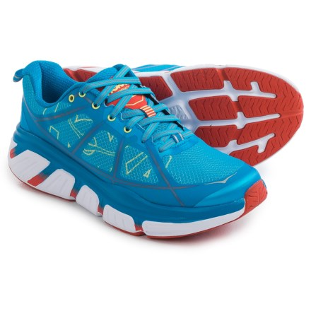 Hoka One One Infinite Running Shoes (For Women) in Dresden Blue/Poppy Red - Closeouts