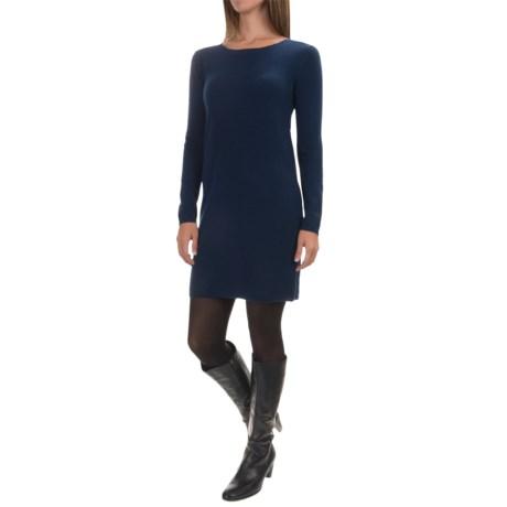 Kier & J Solid Cashmere Knit Dress - Long Sleeve (For Women)