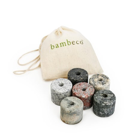 Bambeco On the Rocks Drink Chillers - Set of 6 Granite Stones