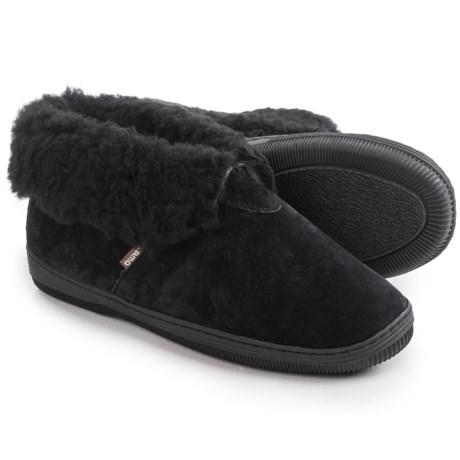 LAMO Footwear Suede Bootie Slippers - Fleece Lined (For Women)