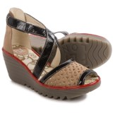 Fly London Ynes Wedge Sandals - Leather (For Women)