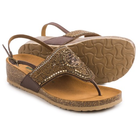Bos. & Co. BioNatura Crystal Slingback Sandals - Leather (For Women)