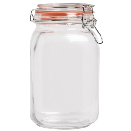 OGGI Glass Square Clamp Canister - 51 oz.
