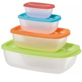 OGGI Rectangular Storage Container Set - BPA-Free, 4-Piece