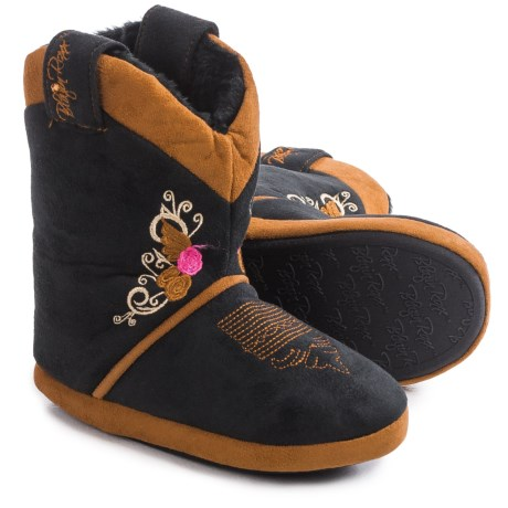M&F Western Blazin Roxx Embroidered Bootie Slippers (For Little and Big Kids)