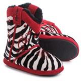 M&F Western Blazin Roxx Zebra Bootie Slippers (For Little and Big Girls)