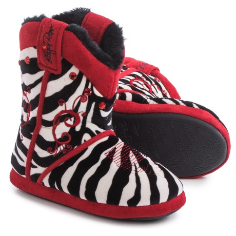 M&F Western Products, Inc. M&F Western Blazin Roxx Zebra Bootie Slippers (For Little and Big Girls)