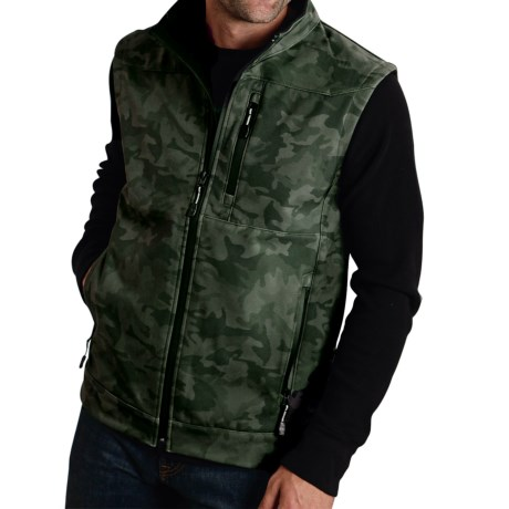 Roper Printed Camo Soft Shell Vest (For Men)