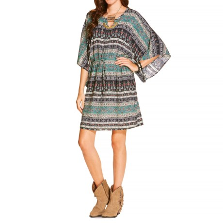 Ariat Irene Printed Rayon Dress - Elbow Sleeve (For Women)