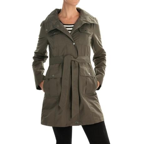 Ellen Tracy Outerwear Safari Techno All-Weather Belted Coat (For Women)