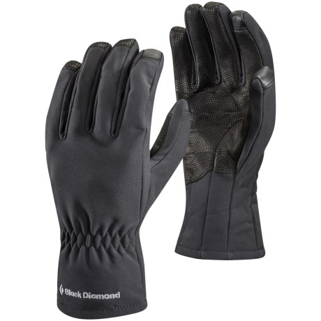 Black Diamond Equipment Soft Shell Digital Gloves - Touchscreen Compatible (For Men and Women)