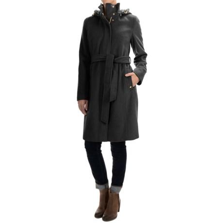 Ellen Tracy Outerwear Wool-Blend Hooded Stadium Coat (For Women)