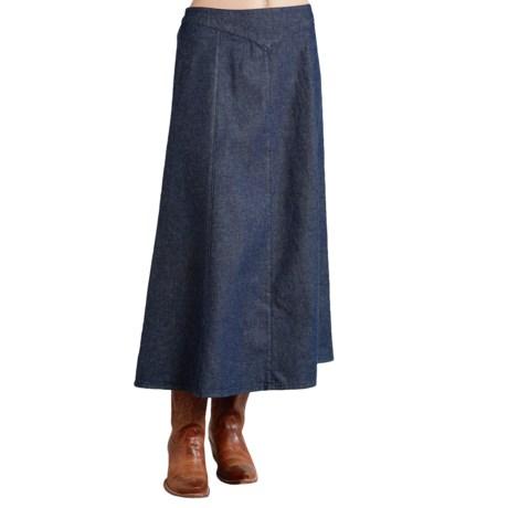 Roper Classic Blue Denim Skirt (For Women)