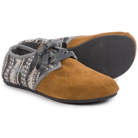 OTZ Shoes Jazz Lace Flats - Suede (For Women)