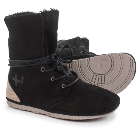 OTZ Shoes Troop Black Shearling Ankle Boots - Suede (For Women)