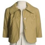 Emanuel Cotton-Rich Jacket - 3/4 Sleeve (For Women)