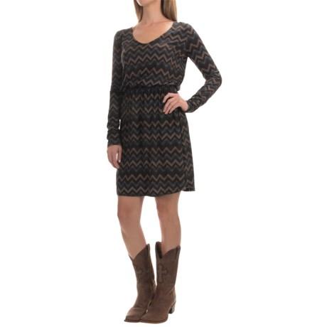 Stetson Chevron-Print Dress - Long Sleeve (For Women)