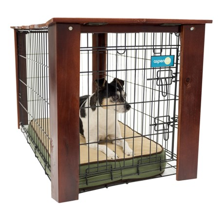 """Aussie Naturals Stained Wood Crate Cover - Medium, 30x19x21"""""""