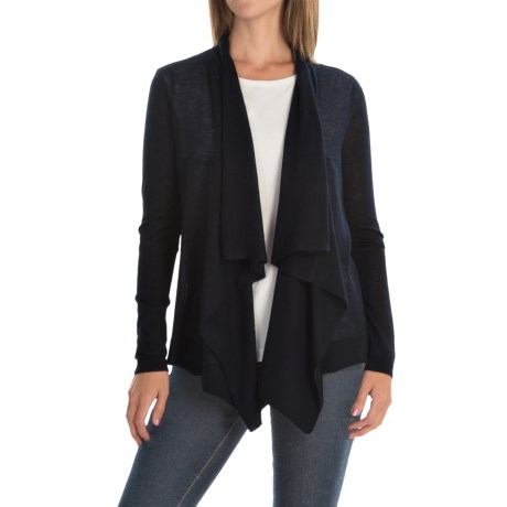 Magaschoni Superfine Cashmere Draped Cardigan Sweater (For Women)