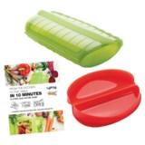 Lekue Microwave Cookware Set - BPA-Free Silicone, 3-Piece