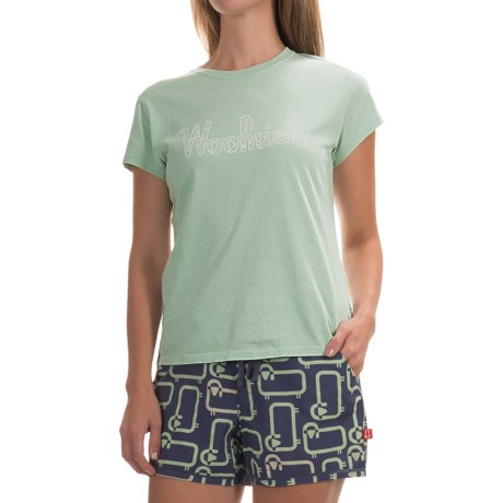Woolrich Four Corners Graphic T-Shirt - Short Sleeve (For Women)