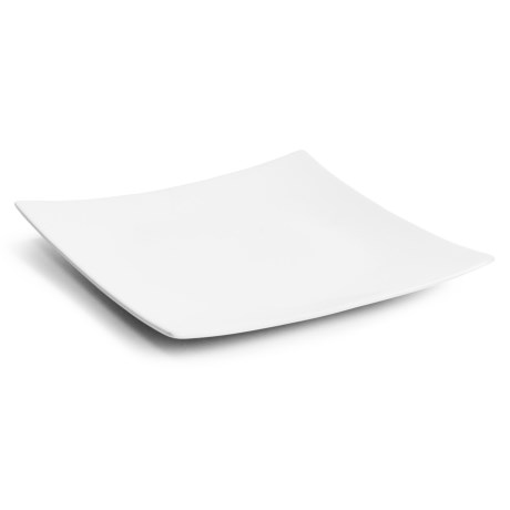 """Tag Whiteware Square Curved Plate - 9x9"""", Porcelain"""
