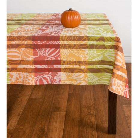 "Tag Harvest Jacquard Cotton Tablecloth - 60x84"""