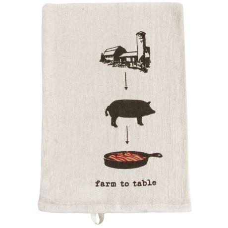 Tag Farm-To-Table Flour Sack Dish Towel