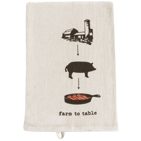 Tag Farm-To-Table Flour Sack Dish Towel