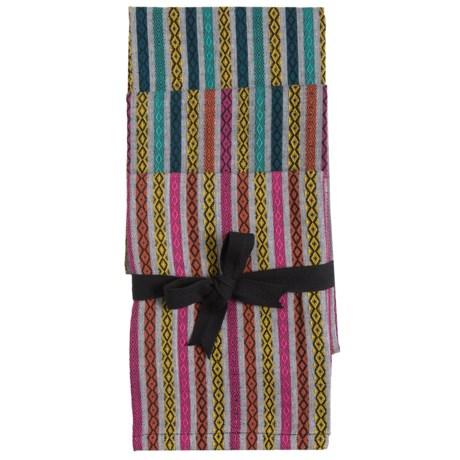 Tag Diamond Stripe Dish Towels - Set of 3