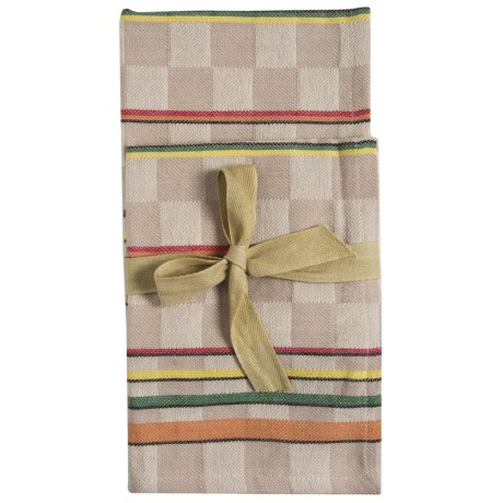 Tag Checkered Stripe Dish Towels - 2-Pack