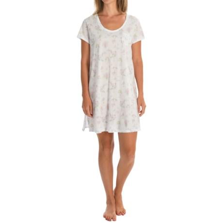 Carole Hochman Bouquet Sleep Shirt - Short Sleeve (For Women)