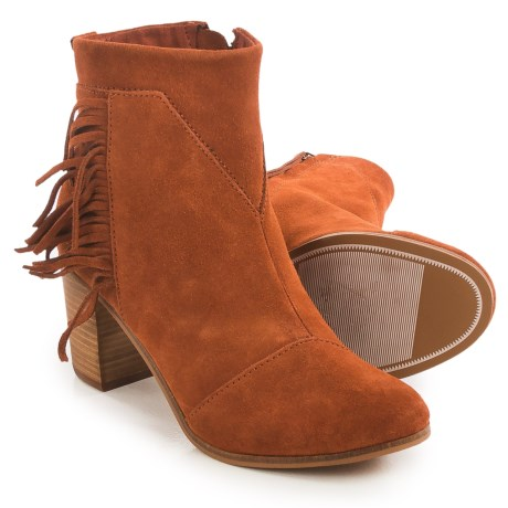 TOMS Lunata Ankle Boots - Suede (For Women)