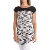 Yala Clare Color-Block Tunic Shirt - Boat Neck, Short Sleeve (For Women)